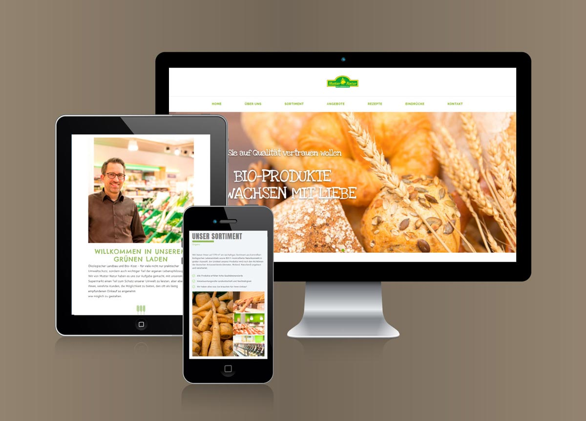 Der Biomarkt, Webseite