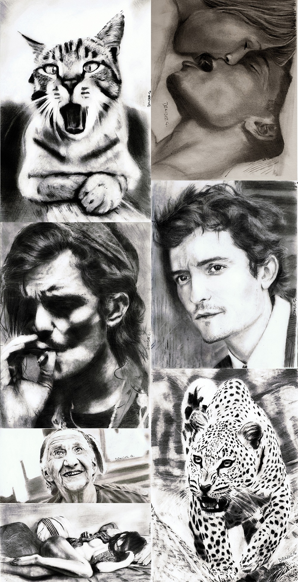 art bleck and white, Pencil Drawings