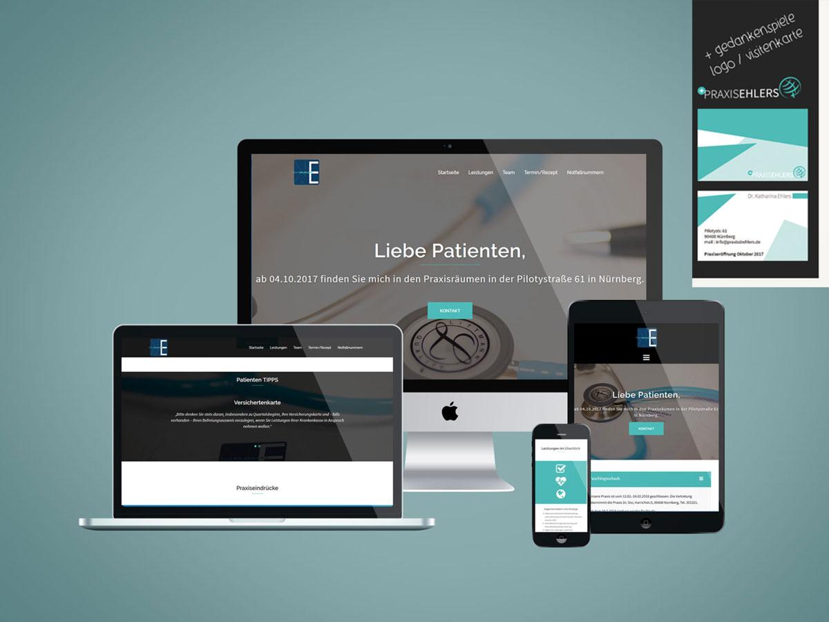 Praxis Dr. Ehlers, Webdesign