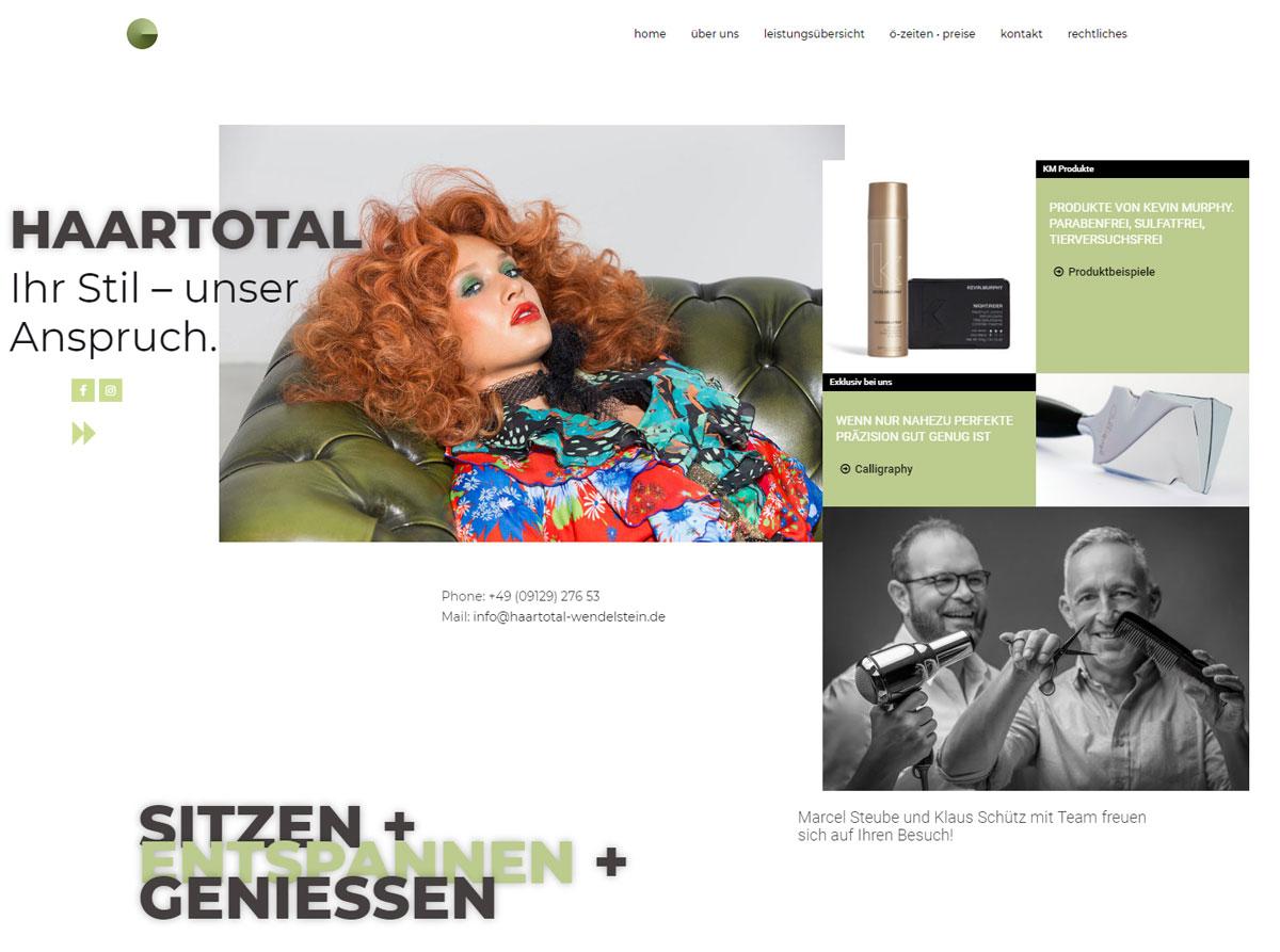 haartotal Webseite, Wendelstein