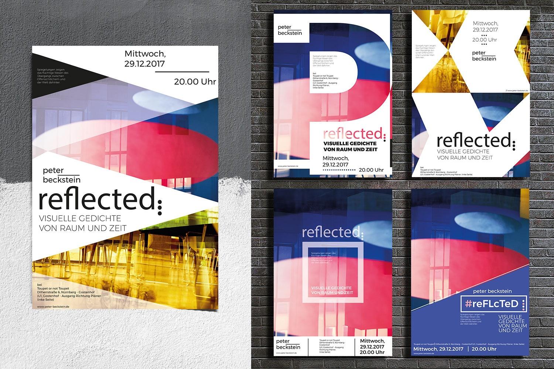 reflected Ausstellung, Plakat