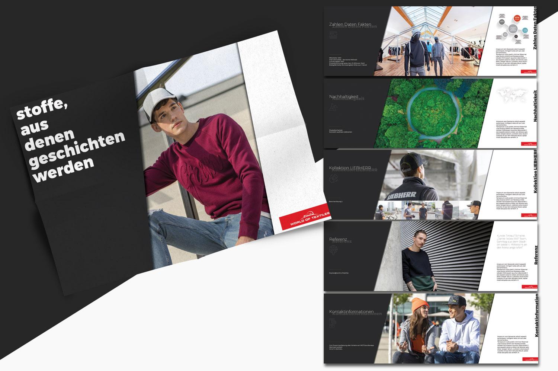 world of textile, Grafikdesign, Pamphlet