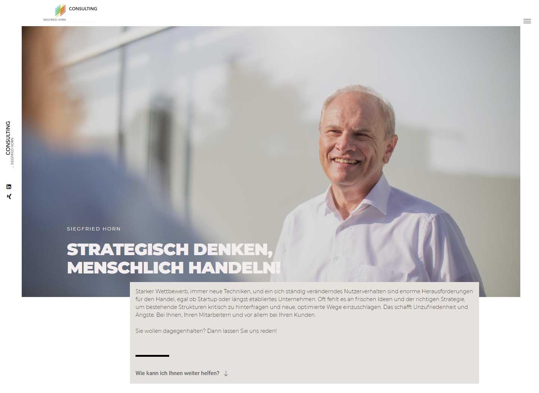 Webseite, Siegfried Horn